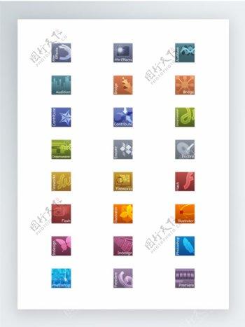 漂亮的Adobe产品图标集