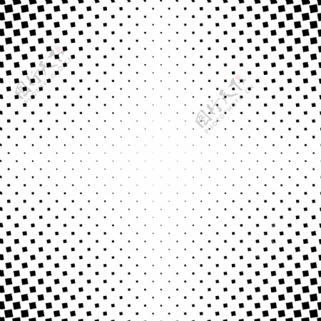 单色抽象正方形图案背景从角正方形的黑白几何矢量图形