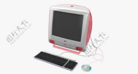 带有USB键盘和鼠标的iMac