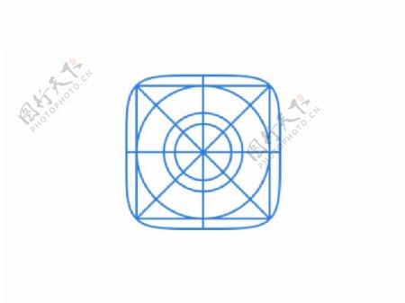 iOS7蓝色网格图标sketch素材