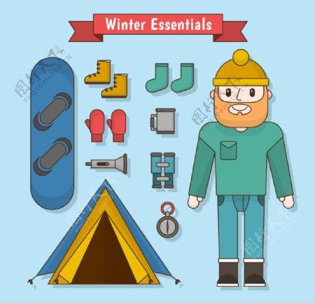 冬季元素图标