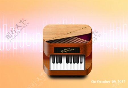 钢琴图标音乐素材图标