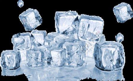 透明漂亮的冰块免抠png透明图层素材