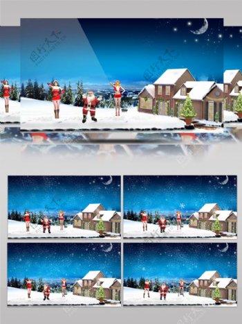 圣诞动感卡通动漫圣诞老人节日祝福