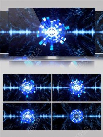 蓝色vj光团高清视频素材