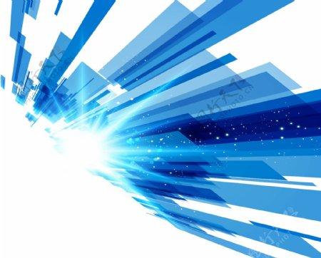 激光蓝色光束png元素