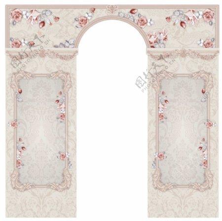 拱形门装饰背景设计