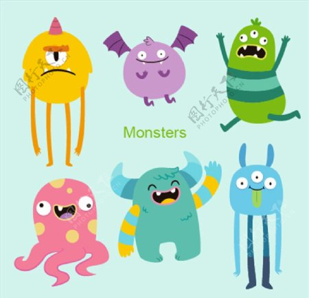 卡通可爱怪兽