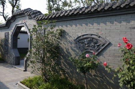 唐语砖雕拱形门砖雕新中式