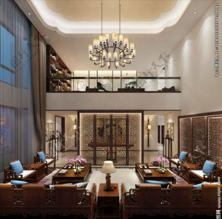 会议室会客厅3d渲染模型