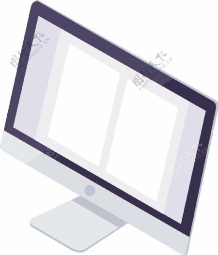2.5D办公室场景iMac电脑可商用元素