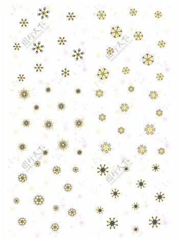 卡通冬天手绘雪花装饰清新浪漫漂浮飘雪
