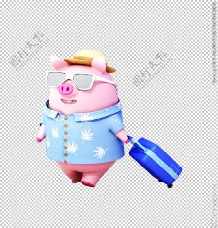 旅行猪宝宝