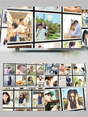 100张照片排版展示记忆相册AE模板