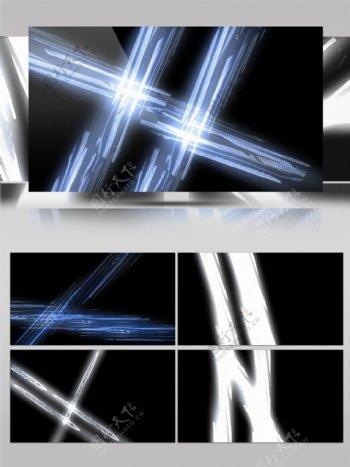 酷炫蓝色灯光照射简约视频素材