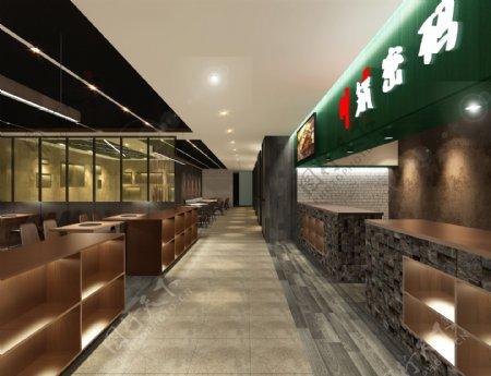 高端餐厅3D设计效果图