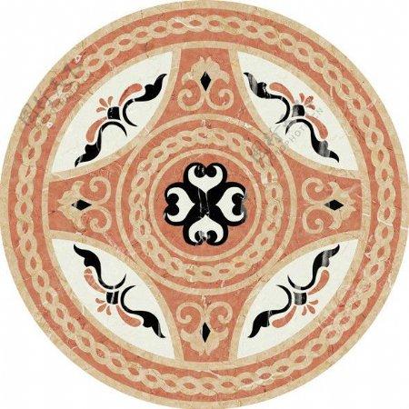 中式圆拼花瓷砖贴图