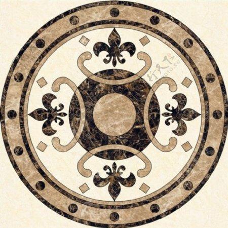 圆形拼花瓷砖贴图
