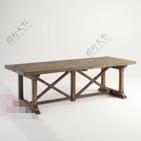 3d木质桌子渲染模型下载