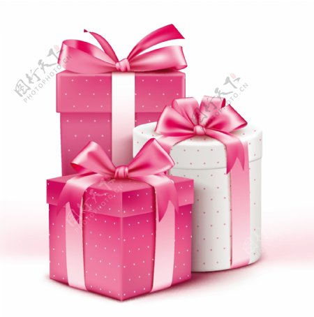 时尚礼物包装盒矢量素材