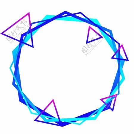 科技感渐变蓝色纹理边框可商用简约素材