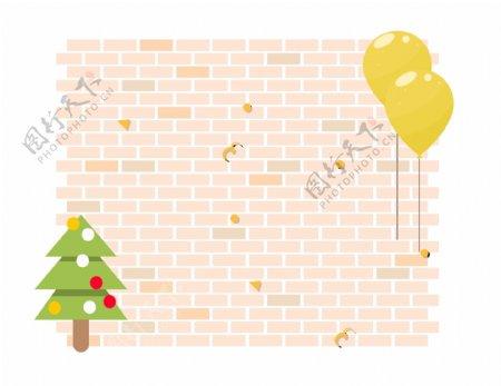 圣诞卡通边框可爱优雅