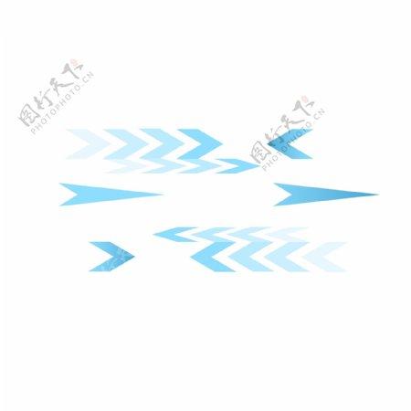科技蓝色箭头方向指示工具图标