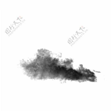 行云流水的黑色抽象图