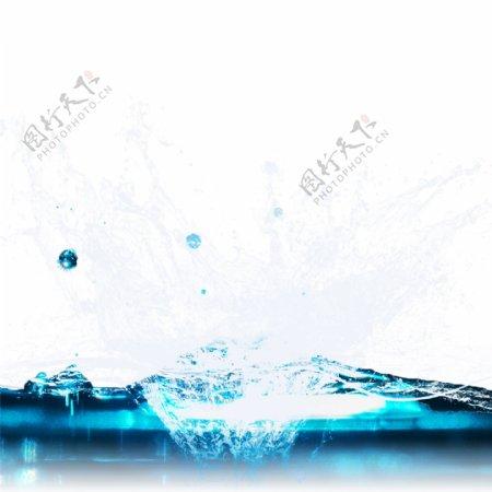 喷溅的水花水浪元素