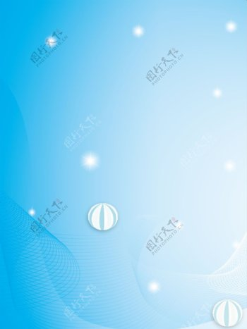 原创简约浅蓝色线条蓝色背景素材