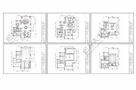 欧式别墅CAD施工图纸