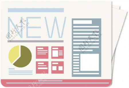 原创设计新闻报纸素材NEW