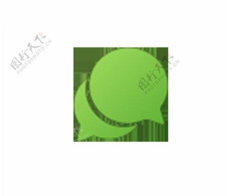 微信绿色图标