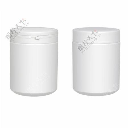 白色塑料罐子样机