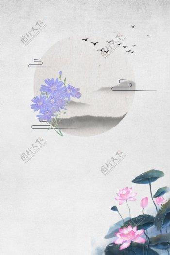 复古风灰色海报banner背景图