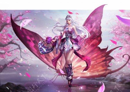 游戏二次元动漫美女蝴蝶