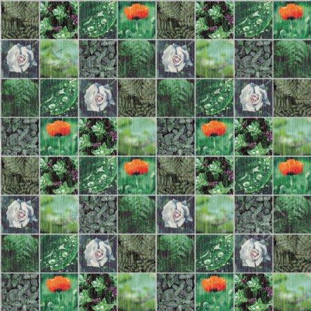 热带雨林绿色墙纸图案