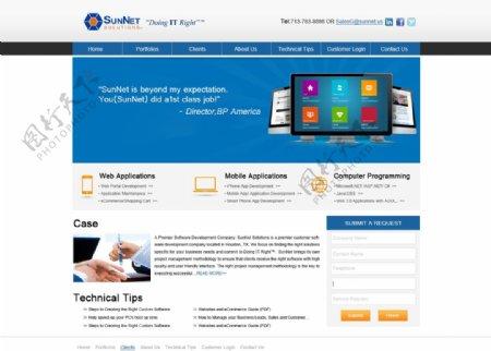 国外企业网站模板