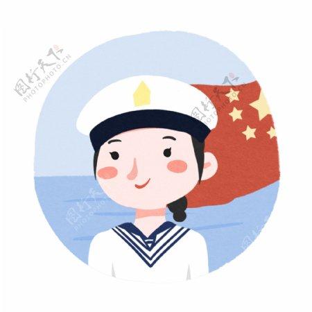国庆海军人物动态GIF