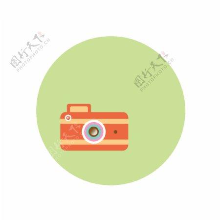 矢量彩色拍立得照相机相片拍照镜头GIF