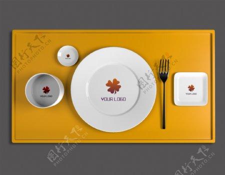 原创建模餐饮logo样机