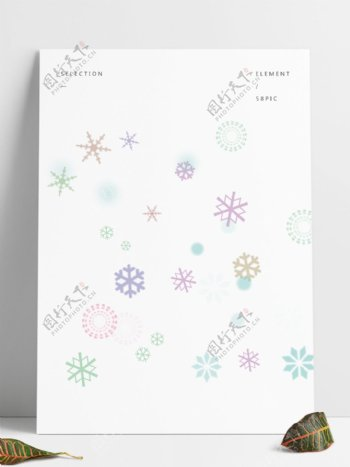8种雪花形状PS笔刷下载