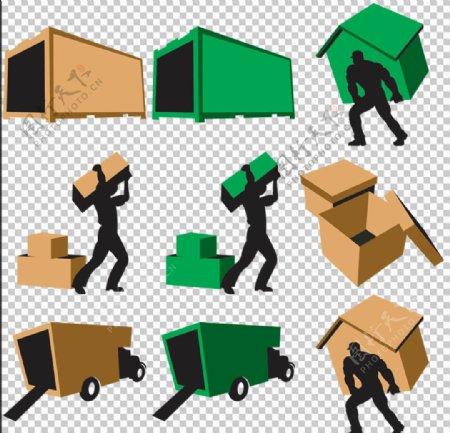 10款搬家公司图标素材免扣素材
