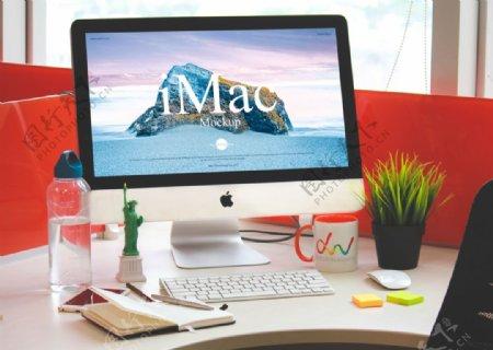 iMac电脑展示样机模型