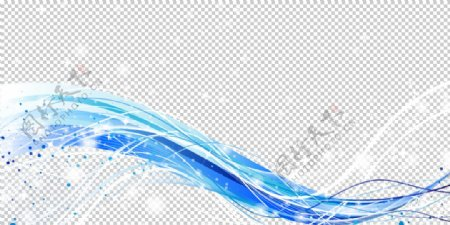 闪耀线条绚丽蓝色渐变条背景