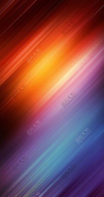 彩色光效梦幻H5背景