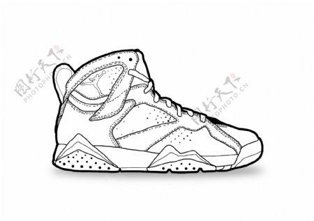 黑白乔丹鞋手绘