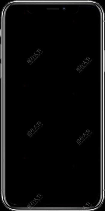苹果x手机模板png透明底