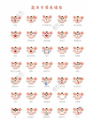 老鼠可爱标签icons