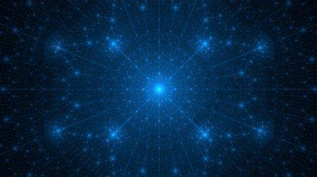 现代科技感酷炫蓝色星光背景